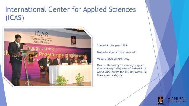 Manipal International Center for ApplieManipal International Center