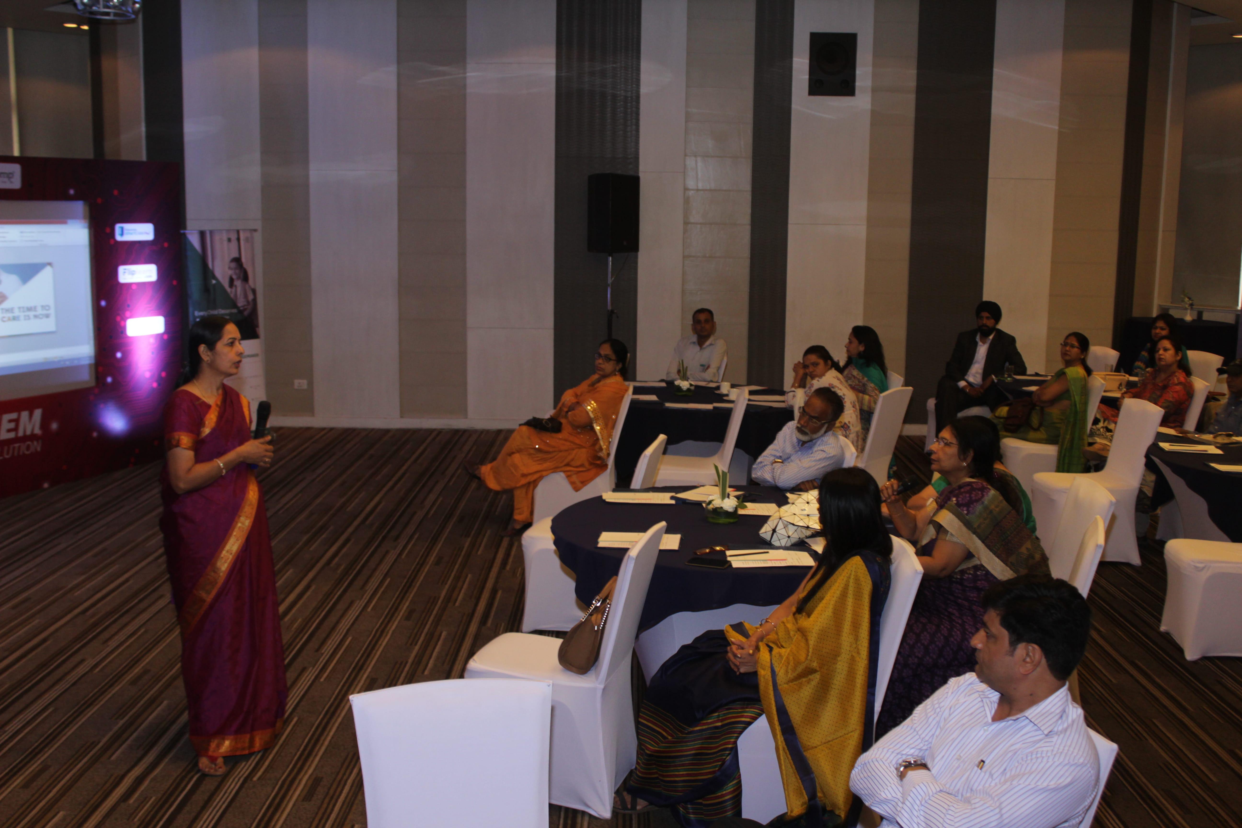 J Vijayavalli, Head Training, The Educomp Solutions speaking at...