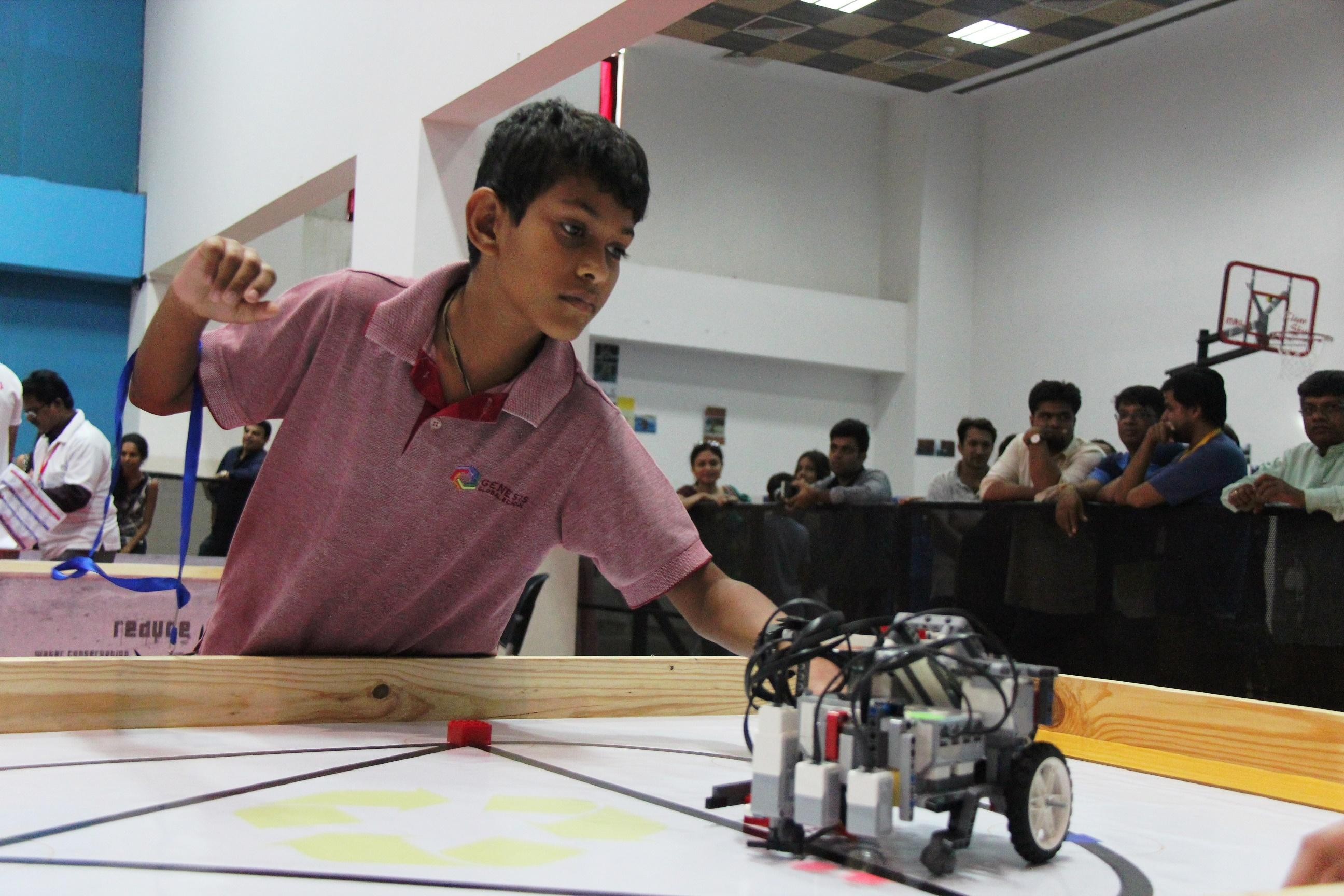 Student at the World Robot Olympiad 2016 at Genesis Global School