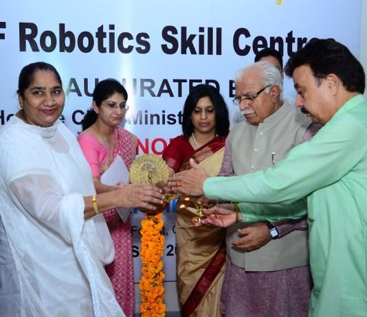 Chief Minister inaugurates seven DLF Robotics Skill centers