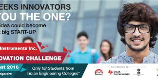 Registration for the Texas Instruments 2016 India Innovation Challenge