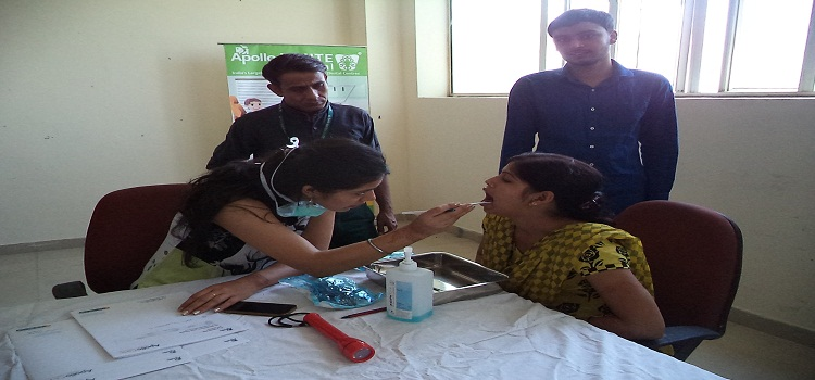 ATDC Student at Health Check up camp