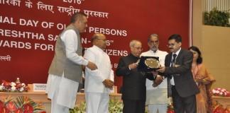 Astha Geriatric Center and Hospice Bags National Award