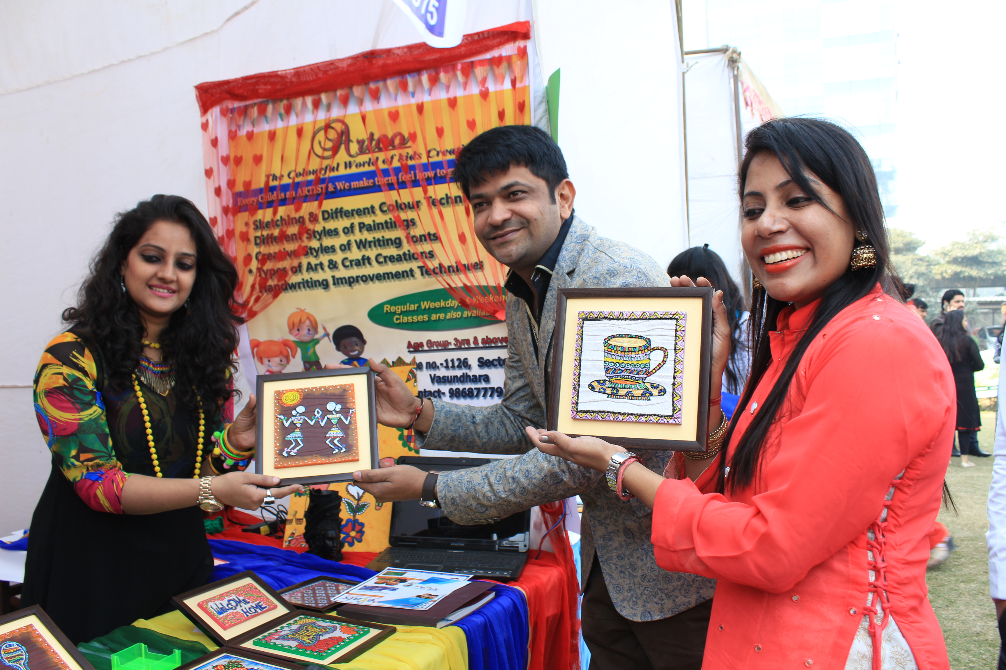 IMS Noida organized a unique exhibition 'Shakti Haat'