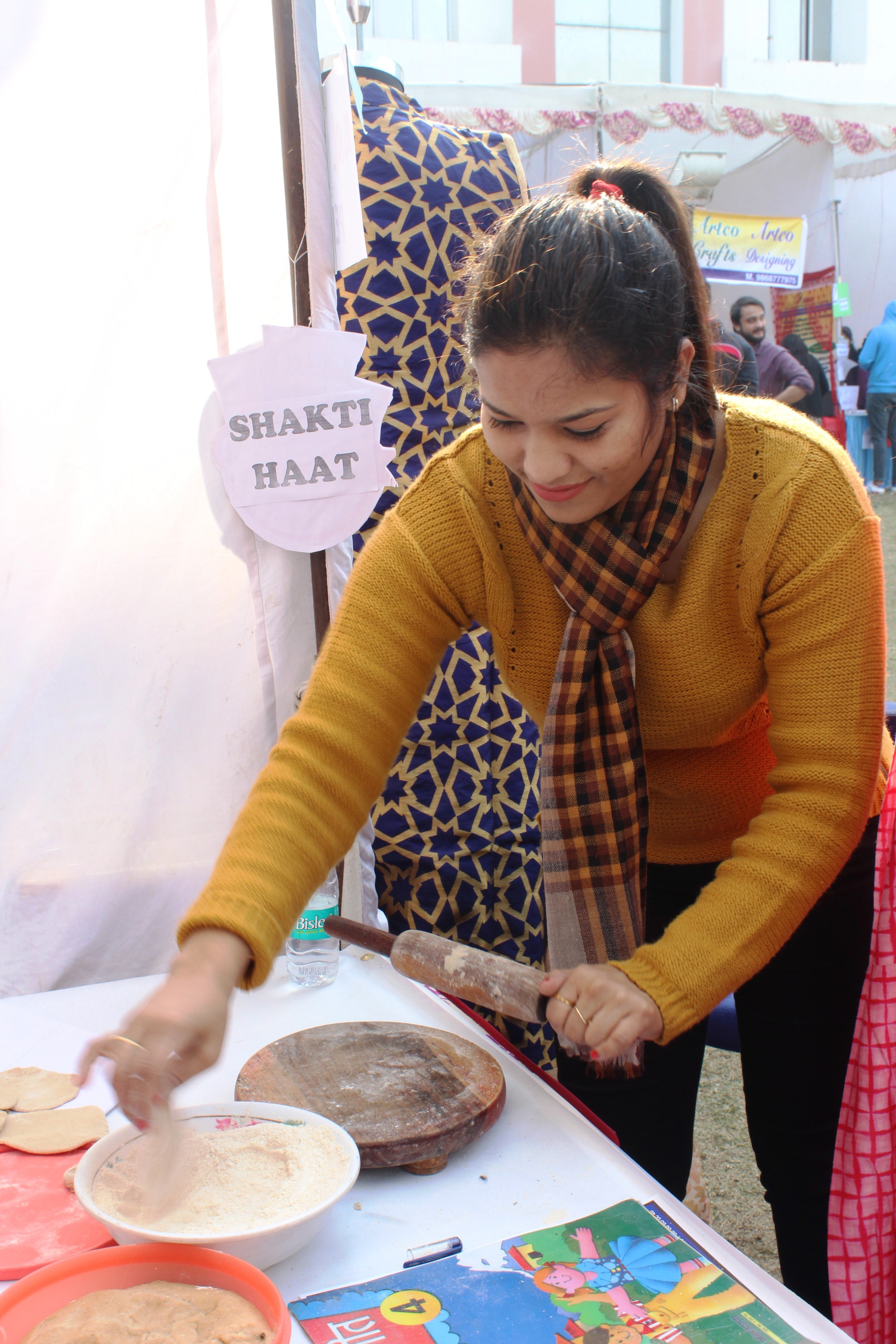 Students at Shakti Haat