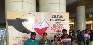 DLF Foundation Organizes Blood Donation Camp