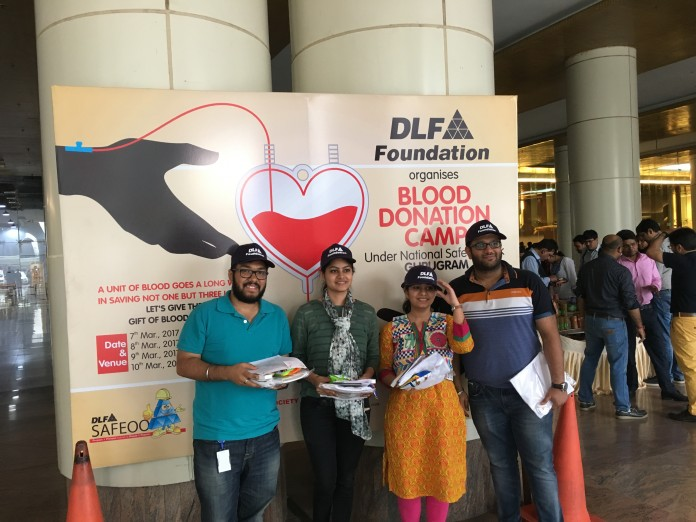 DLF Foundation Organizes Blood Donation Camp