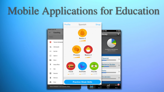 Applications, education