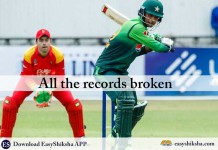 Pakistan vs zimbabwe, All the records broken, Fakhar Zaman