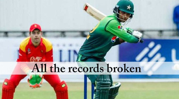 Pakistan vs zimbabwe, All the records broken, Fakhar Zaman