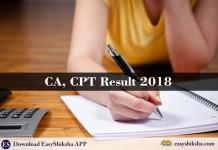 CA, CPT Result 2018, CPT