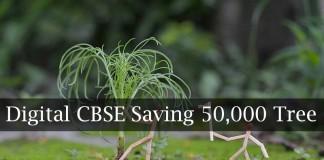 CBSE, Saving trees