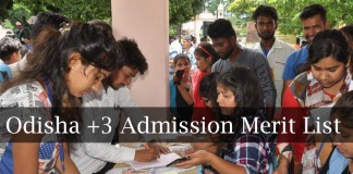 Admission Merit List 2018, Odisha