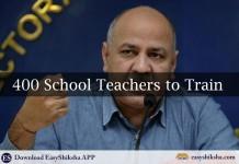 Delhi Govt, School Teachers, Training
