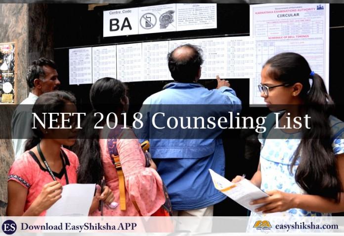 NEET Counseling 2018, Counseling, NEET