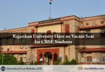 Rajasthan university, admission
