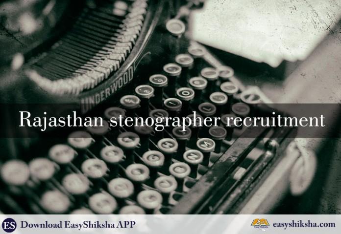 Rajasthan stenographer, stenographer