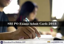 SBI PO, ADMIT CARD, 2018, SBI ADMIT CARD 2018