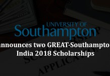 Southampton university, great southampton india 2018, scholarships
