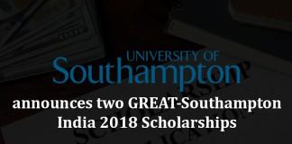 Southampton university, great southampton india 2018, scholarships