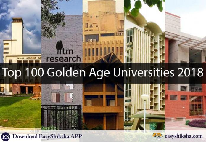 Golden, top 100 golden age university