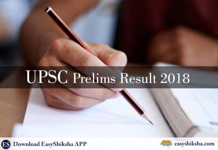 UPSC Prelims, UPSC Prelims Result 2018, Result 2018