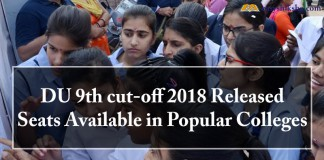 DU 9th cut-off 2018