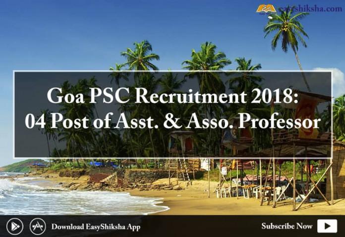 GOA PSC, recruitment, jobs