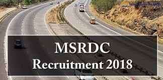 MSRDC , MSRDC Recruitment 2018