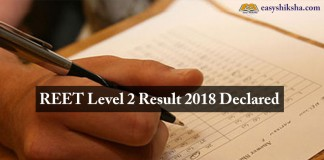 REET Level 2 Result, Reet, result, 2018