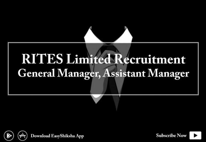 RITES, Recruitment