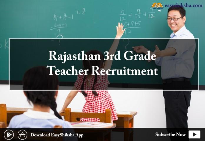 Rajasthan 3rd Grade Teacher Recruitment 2018, 3rd grad teacher, teacher