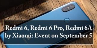 Redmi 6, Redmi 6 Pro, Redmi 6A, Xiaomi