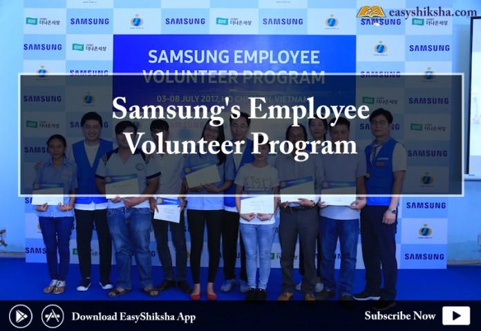 Samsung Electronics , Employee Volunteer Program