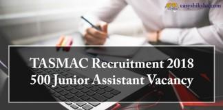 TASMAC, TASMAC Recruitment 2018