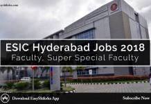 ESIC, jobs, faculty