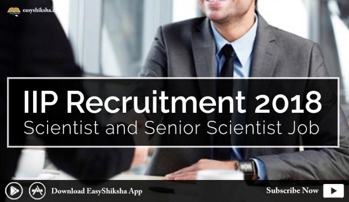 IIP Recruitment