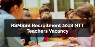 RSMSSB, RSMSSB Recruitment 2018