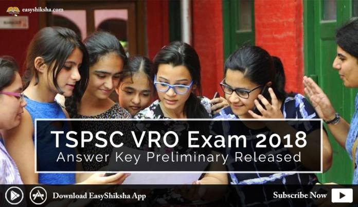 TSPSC VRO Exam 2018, Answer Key