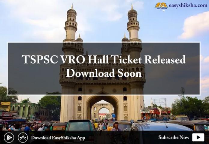 TSPSC, TSPSC VRO Hall Ticket