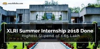 XLRI, Summer Internship
