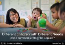 different children