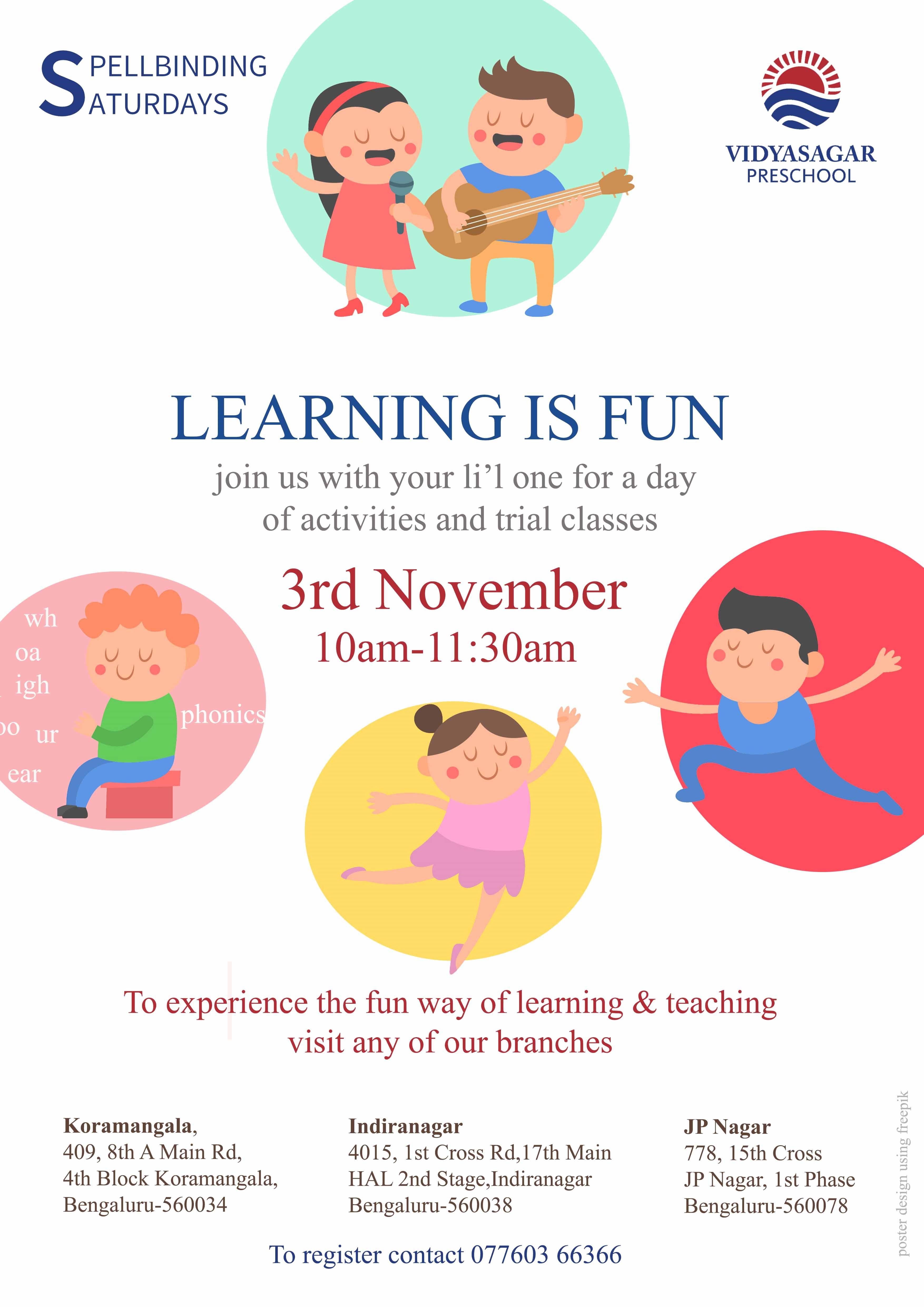 Learning is Fun - Vidyasagar Preschools