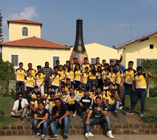 CEDP Skill Institute organized an industrial visit to Indias No1 Vineyards