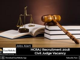 HCRAJ Recruitment