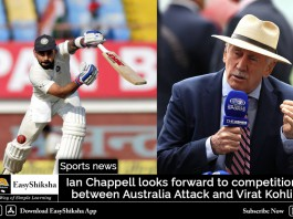 Ian Chappell looks forward to competition between Australia Attack and Virat Kohli