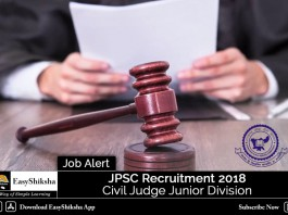 JPSC Recruitment 2018, JPSC Civil Judge Recruitment