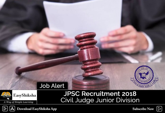 JPSC Recruitment 2018, JPSC Civil Judge Recruitment