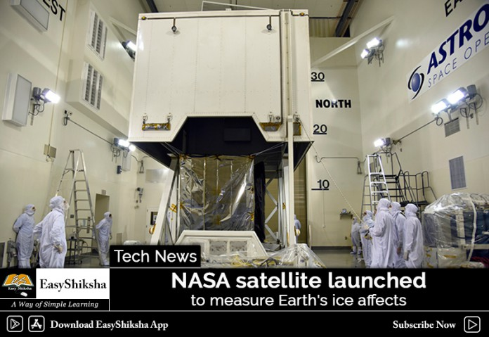 NASA Satellite, Earth's Ice Affects