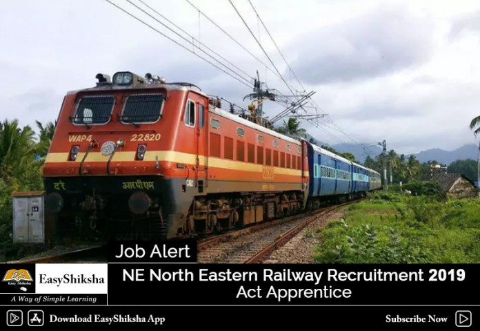 NE Recruitment, North Eastern Railway Recruitment, NE Railway Recruitment